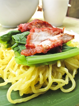 chinese egg noodles photo
