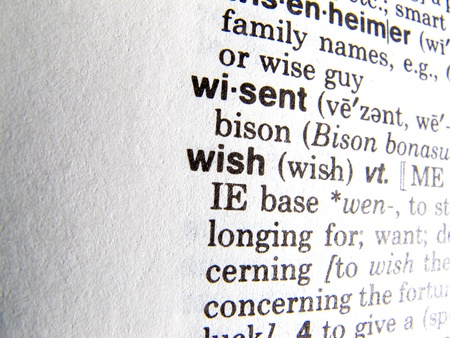 wish in dictionary photo