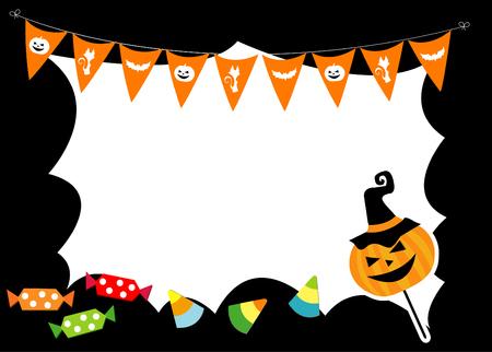 backlit: halloween  border