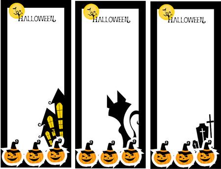 halloween border cat