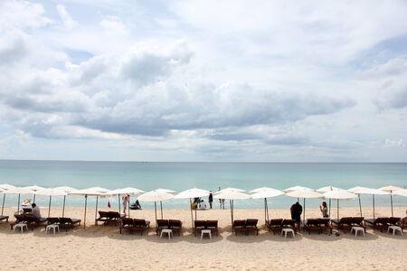 reclining chair: reclining chair on the beach