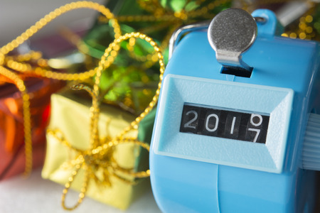 The Digits is Changing from 2016 to 2017. Concept of New Year Stock Photo