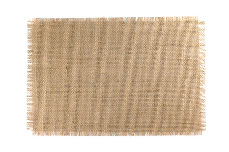 Burlap Fabric isolated on a white background Stock fotó