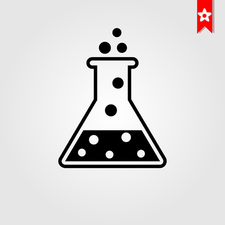 laboratory line icon flat style isolated on background. laboratory icon sign symbol for web site and app design. Foto de archivo - 118433097