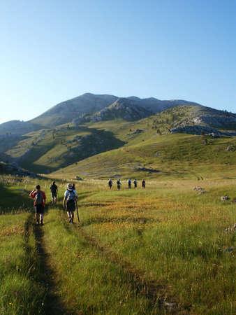 Climbing on highest croatian mountain, Dinara 1831 m Stock Photo - 549209