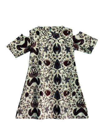 The women's clothes with batik motifs are isolated on a white background. Even though they are ethnic, the designs or cutting patterns make the wearer look sexy.