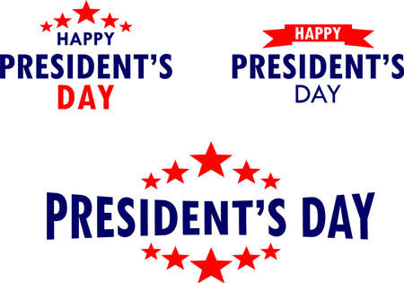 Presidents Day font design, greeting to commemorate the birthday of the first President of the United States George Washington