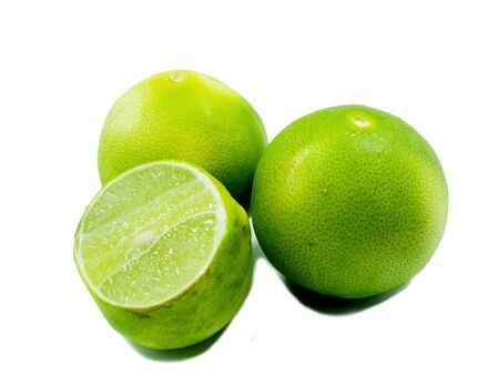 Fresh ripe lime  Isolated on white background Stock Photo - 13048910
