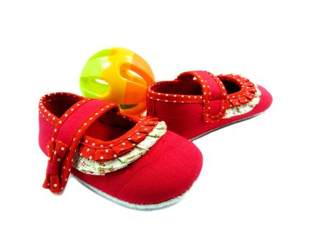 little red shoes isolated on white