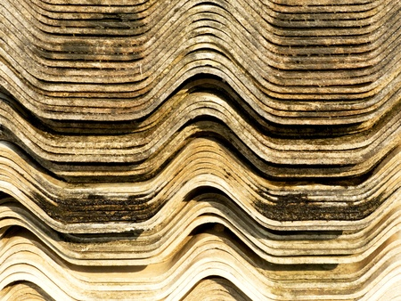 Stack asbestos tile construction To be carcinogenic Stock Photo