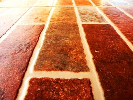 beige and brown floor tiles stone texture Stock Photo