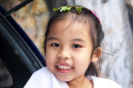 A beautiful little girl smile in Thailand