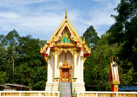 Ubosot in Thailand temple the place for pray in every fortnight Stock Photo - 13289017
