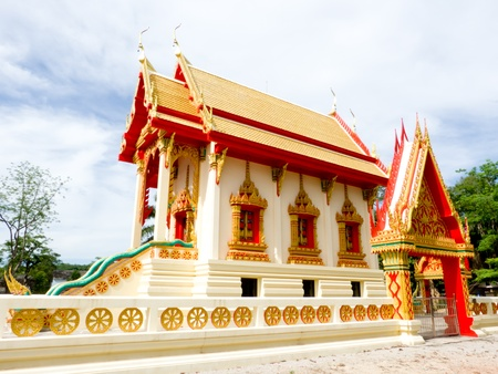 Ubosot in Thailand temple the place for pray in every fortnight