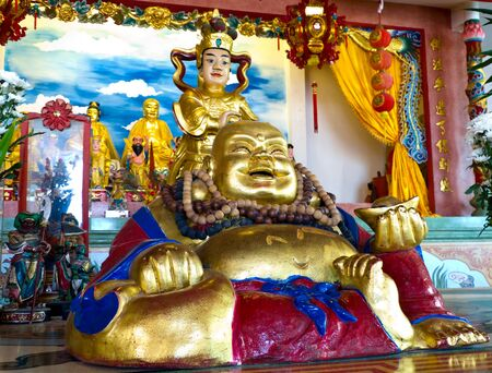 Happy Buddha angel of Chinese inspire happiness fortune for human