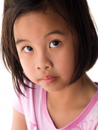 Portrait of a little Asian girl in Thailand Stock Photo