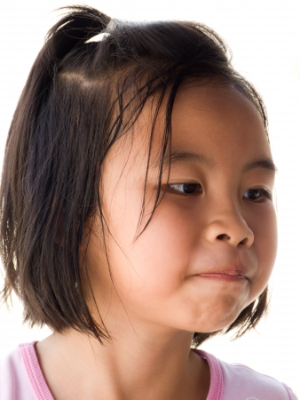 Portrait of a little Asian girl in Thailand photo