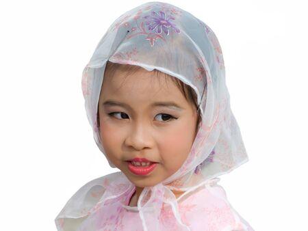 Beautyful smile of a pretty Muslim girl.