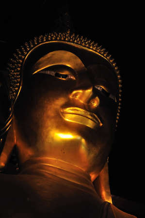 The Buddha Face of the temple of Buddha foot printed