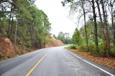 1 of 600 curve on the road to Pai Maehongson Thailand Stock Photo