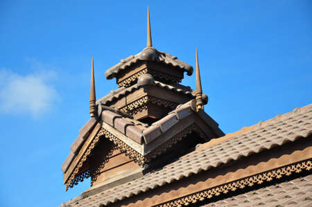 The roof of the temple Stock Photo