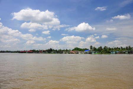 Thai river view Stock Photo