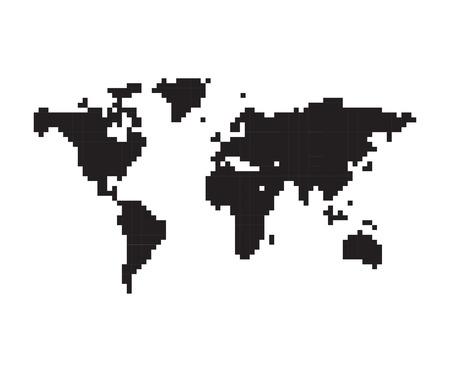 pixeled: Pixeled World Map