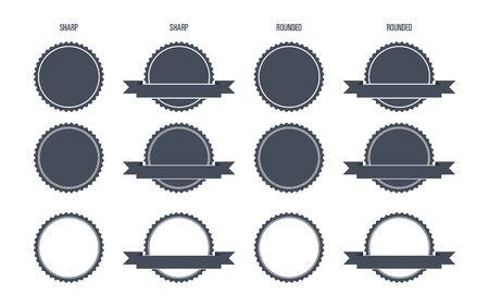 rounded edges: Blank Round Stamp  with Sharp and Rounded edges