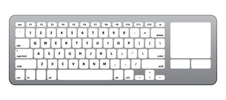 shortcut: White Silver Keyboard - Isolated Vector Illustration