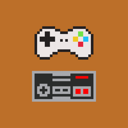 portable console: Gamepads for console - Isolated Vector Illustration