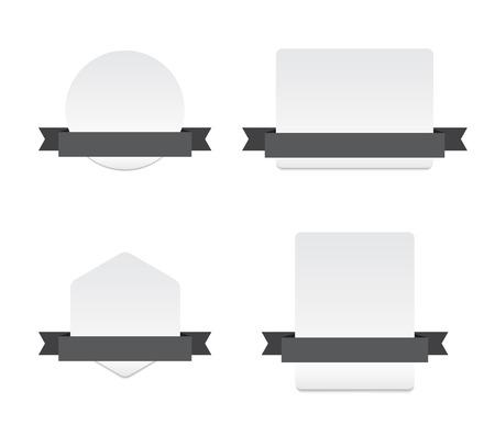 isolated illustartion: Blank Banners with Ribbon - Isolated Vector Illustartion