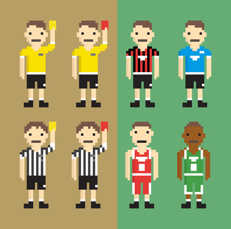 referees: Referees, football players, basketball players - Isolated Vector Illustration Illustration