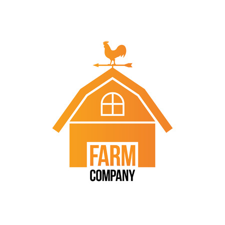 rooster weather vane: Farm Company Logo - Isolated Vector Illustration