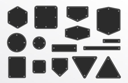 Banners frames met metalen schroef - Geïsoleerde Vector Illustration