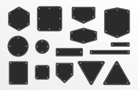 Banners frames with metal screw - Isolated Vector Illustration