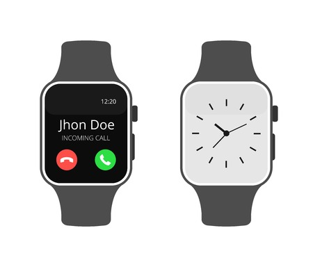 isolated vector illustration. Smart watch sport urban portable device