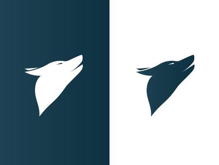 minimalistic: Isolated Illustration. Dog Wolf Logos set minimalistic Icon Illustration