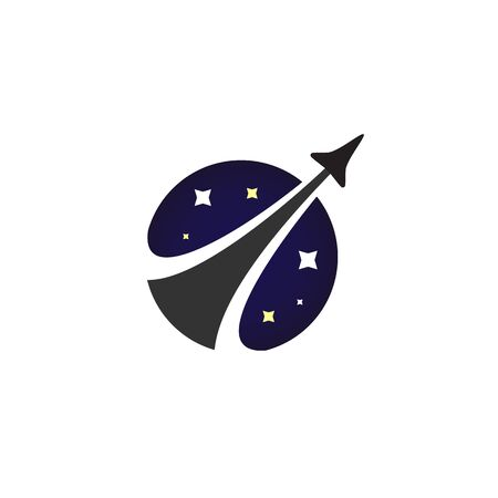Rocket launch with smoke and stars icon - Isolated Vector Illustration Ilustrace