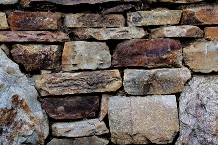 Picture of park stone wall.