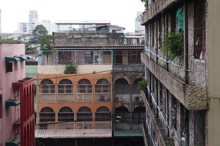 tenement: The old tenement houses in bangkok,Thailand