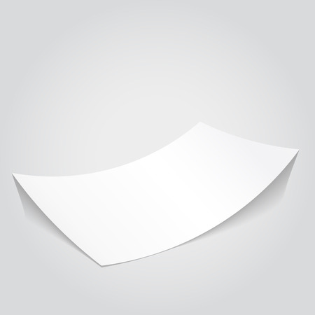 paper sheets: Clean vector paper. White page for optional text. Illustration