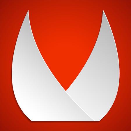 bocinas: Dos bordes afilados claxones iconos. icono de los cuernos. Simbolo sostenido cuernos.