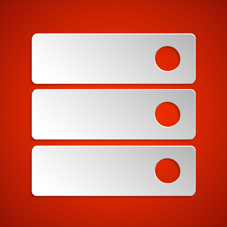 web portal: Menu icon vector element. Paper web menu icon. Flat design style.