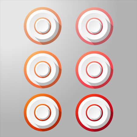 website buttons: Loudspeaker buttons with different shades. Vector target buttons. Target aim symbol. Website buttons. Illustration