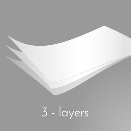 put together: Paper paper pages put together. Layers of pages. Illustration