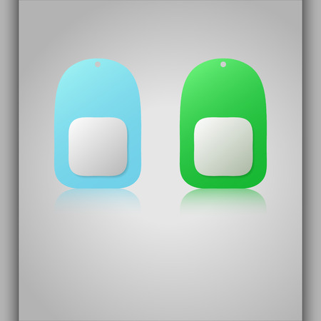 dogtag: Colorful vector dogtags. Reflection banners. Name tags.
