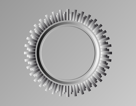vector tyre: Vector abstract tyre. Simple black and white wheel . Illustration
