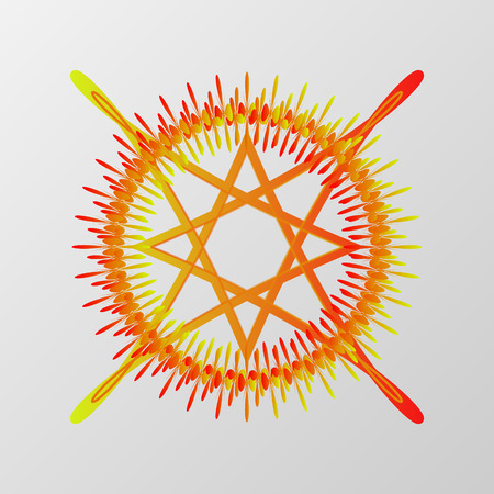 conjuring: Abstract pentagram element vector. Mystical circle for conjuring demons.