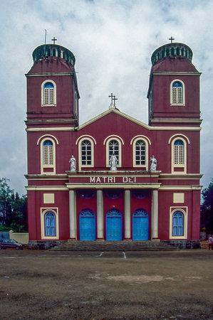 Beautiful building of Matri dli cathedral church at Calicut state Kerala 04/17/2017