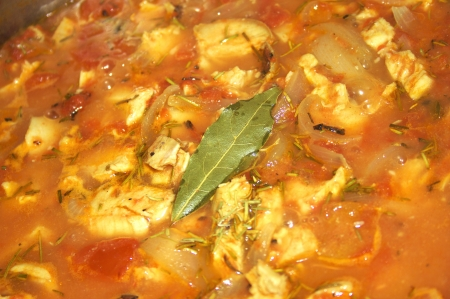 Bay Leaf and Rosemary in Chicken Cacciatore